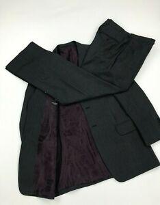 Men's Dark Grey Striped Paul Smith London Suit 38R W31 L32 Wool 2 Button Lined A