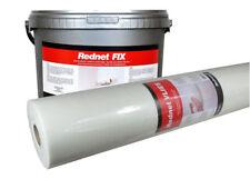 Fiberglass Glass fibre fabric REDNET VLIES 50m² & ready to use ADHESIVE 12kg