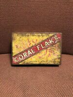 Rare Old Vintage Antique Cigarette Tobacco Tin Davies Coral Flake W. T. Davies