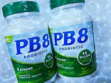 Lot of 2 ( 120 +120 ) TOTAl 240 Nutrition Now PB8  Probiotic Digestive Health