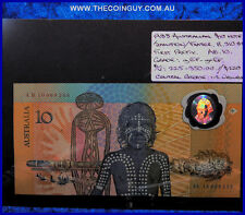 1988 Australian Ten Dollar Polymer Notes First Prefix AB10 gEF-ghEF