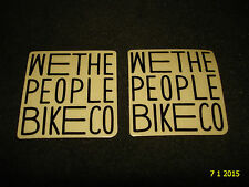 2 AUTHENTIC SMALL WETHEPEOPLE BMX BIKES BLACK STICKERS #52 DECALS AUFKLEBER