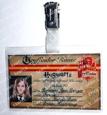 Hermione Granger ID Badge Hogwarts Gryffindor HP Cosplay Costume Comic Con