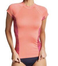 Rip Curl TRESTLES Pink Short Sleeve UPF50+ UV Tee Rashguard Surf Swim Beach LRG