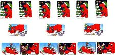Clifford the BIG RED Dog Xmas Christmas Snow Winter 15 LARGE Stickers!