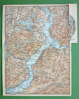 1899 MAP ORIGINAL Baedeker - Italy Lago Maggiore & Environs