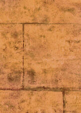 Brown and Red Stucco Block Wall Wallpaper - NTX25734