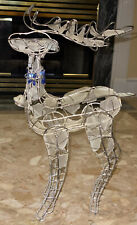 Reindeer Holiday Metal Wire Glass Accent Table Decor 17.5x19.5� Standing Figure