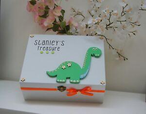 PERSONALISED Dinosaur Gift, Boys Treasure Box, Boys Birthday Gift, Boys Bedroom