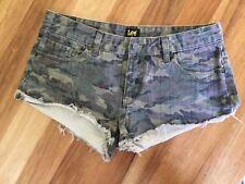 Lee Shorts Camo Denim Size 10 Worn Once