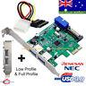 USB 3.0 2 back + 20-pin Internal Connecter PCI-E Card, Full & Low Profile
