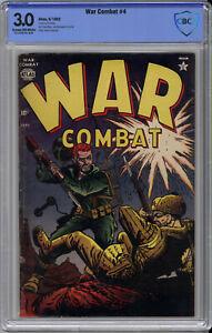 WAR COMBAT #4 CBCS 3.0 - EXTREMELY RARE ATLAS WAR - COMBAT CASEY - 1952