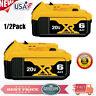 1/2PC For DEWALT 20V Lithium Battery DCB206-2 20Volt MAX XR 6.0Ah  DCB205-2 SHO