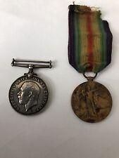 More details for wwi british war silver medal 1914-1918 george v. & victory medal g. simpson