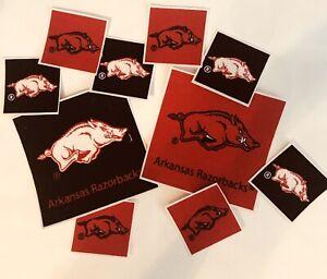 University Of Arkansas Razorbacks - Iron On Fabric Appliques - Sports Patches