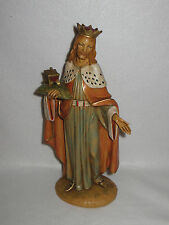 "Vintage ""Melchior"" 1983 Fontanini Large King Nativity 12"" Figurine #52914 - Mint"