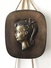 Bronze Mid Century Girl Art Vintage Retro  Germany Lava Vase Design Loft