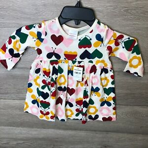 Hanna Andersson Girls Size 12-18 Months Multicolor Cotton Jersey Dreamy Playdres