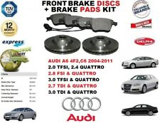 FOR AUDI A6 2.0 2.4 2.8 TFSI 3.0 2.7 TDI FRONT BRAKE DISCS SET + DISC PADS KIT