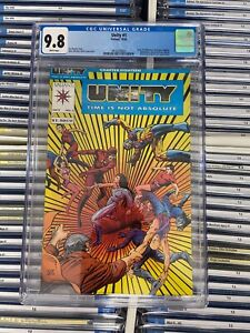 UNITY #1 NM/MT 9.8 CGC Valiant BARRY WINDSOR-SMITH COVER Jim Shooter