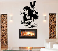 Pulp Fiction Movie Uma Thurman Quote Wall Stickers Bedroom Removable Decals DIY