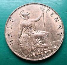 More details for 1904 edward vii halfpenny, nice luster #540