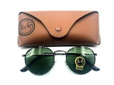 Ray-Ban Round Sunglasses Gunmetal Frame / Green G-15 Classic Lenses RB3447 50mm