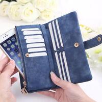 Women Fashion Lady Clutch PU Leather Long Wallet Lady Card Holder Purse Handbag