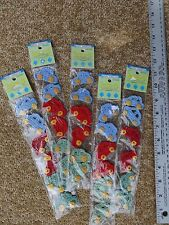 Lot of 5 packages decorative Crochet Button Links Cars 30 pieces Red Green Blue