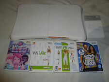 NINTENDO Wii FIT BOARD & GAME LOT KIDFIT ISLAND RESORT PLUS BIGGEST LOSER WII >>