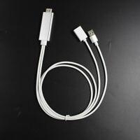 Lightning 8 Pin to HDMI Cable HDTV TV Digital AV Adapter for iPhone 5 6 7 iPad R