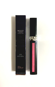 Dior Rouge Dior Liquid Metal Liquid Lip Stain 375 Spicy Metal .20oz New Boxed