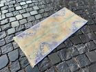 Vintage doormats, Turkish small rug, Hand-knotted wool rug,Carpet   1,3 x 2,8 ft