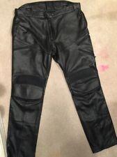 Men's DKNY Black Leather Motorcycle Pants Sz 38