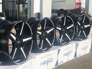 4 neue Alu Oxigin18 Concave black foil white 8,5x18, 5/112, ET35, Audi A4 B5
