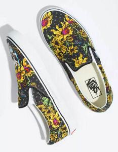 NEW Vans Slip On Beauty Skull Multicolored Womens Shoes