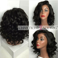 Best Short Curly Wig Glueless Indian Remy Human Hair Lace Front Wigs Black Women