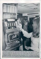 1973 Press Photo Vintage 1970s Bally Slot Machine Prince of Fundy Ship Casino