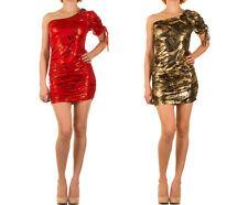 Ärmellose Damenkleider mit asymmetrischem Ausschnitt für Cocktail-Anlässe