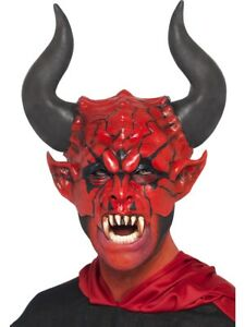 Devil Lord Mask Mens Halloween Fancy Dress Devils Face Mask Adult Accessory New