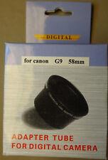 New 58mm Black Lens Adapter Ring Tube for Canon PowerShot G9