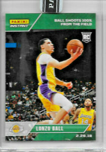 2017-18 PANINI INSTANT LONZO BALL ROOKIE GREEN #101 PARALLEL 9/10 shoots 100%