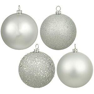 "Vickerman Splendor 4-Finish Sliver Ornament 96 Set, 1.6"" SHATTERPROOF~Christmas"