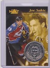 RARE 1996-97 PINNACLE MINT JOE SAKIC SILVER / NICKEL COIN & CARD #11