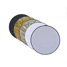 5 in1 60cm Studio Light Photography Collapsible Disc Panel Reflector Diffuser UP