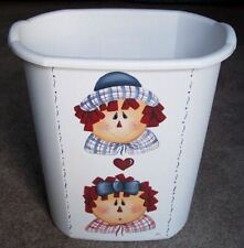 HP WASTE PAPER BASKET/RAGGEDY ANN & ANDY /NEW  BY MB