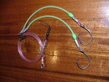 DEEP SEA BOTTOM RIG 2 DROPPER LUMINOUS RIGGING 500lb 160
