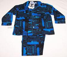 Star Wars Boys Blue Flannel Pyjama Set Size 3 New