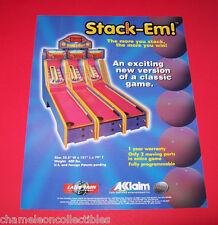 STACK EM! By LASER-TRON ORIGINAL NOS REDEMPTION ARCADE GAME MACHINE SALES FLYER
