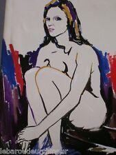 huile moderne signée Farah femme